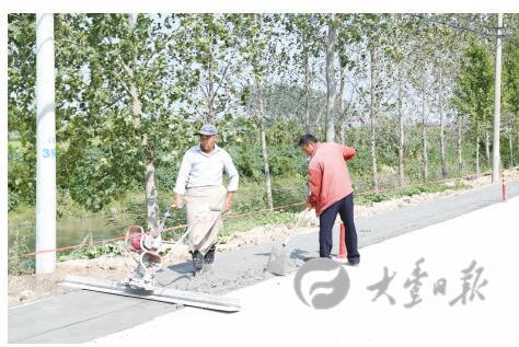 大丰竹成线实施路面拓宽工程 预计10月底完工