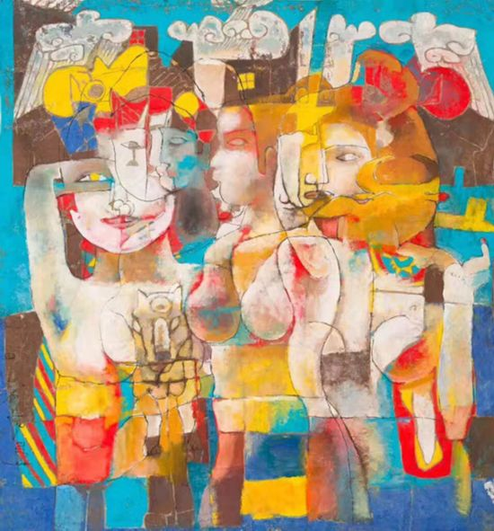 石虎最新作品(此件作品被俄罗斯功勋艺术家亚历山大・秋文・瓦列金诺维奇盛赞。)