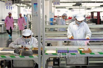 腾晖光伏年产2兆瓦太阳能光伏组件项目正式投产