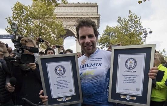 英男子79天骑车环游世界破吉尼斯纪录