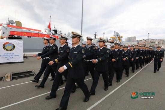 当地时间9月20日上午参加中俄&quot海上联合2017&quot第二阶段演习的中俄