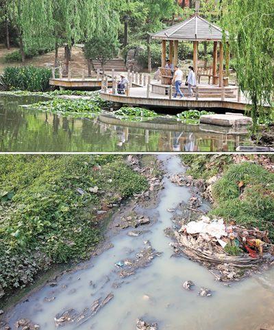 污水河变清(好政策,让生活更美好)