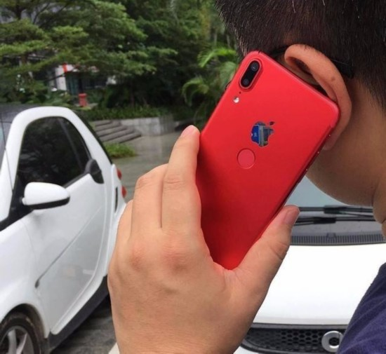 山寨iPhone X背部