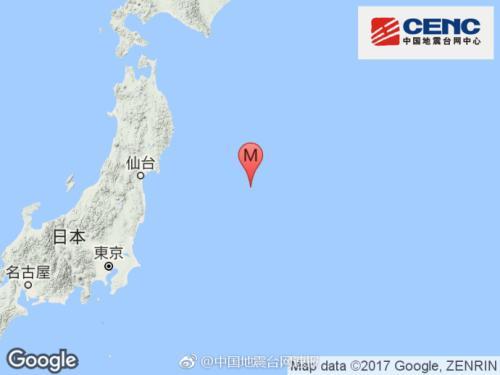 日本本州东岸海域发生6.0级地震 震源深度10千米