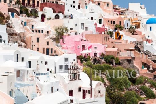 让粉色控疯狂的5个景点之一:圣托里尼岛,希腊(Santorini, Greece)