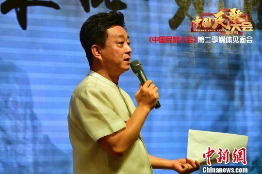 朱军担任《中国民歌大会》主持人。 主办方供图