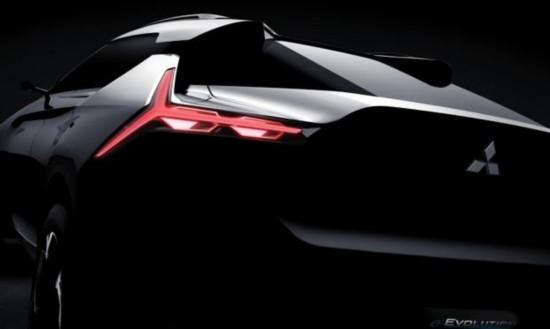 三菱全新旗舰SUV东京车展首秀 预告图发布