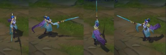 Legend has it that the skin LOL7.19 version first: jade sword Xenzhao redo