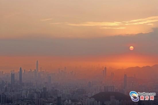 组图:夕阳下的深圳