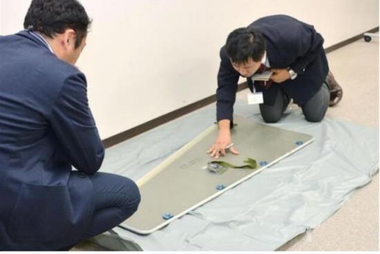 日本茨城县工厂内掉落飞机面板 或属于全日空班机