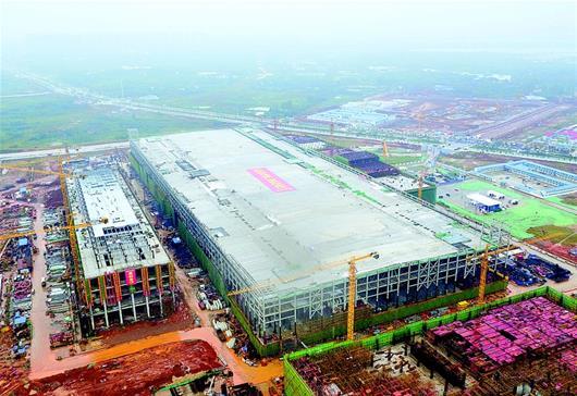 国家存储器基地核心厂房封顶 年产超百亿美元