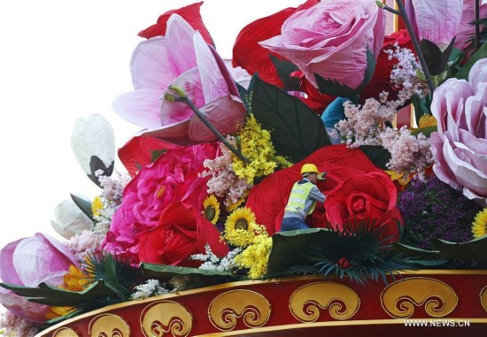 CHINA-BEIJING-NATIONAL DAY-DECORATION (CN)