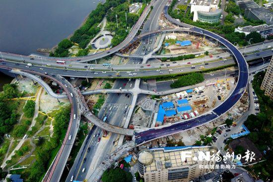 福州二环五四路口匝道10月1日全面通车 尤溪洲北桥头互通立交也即将通车