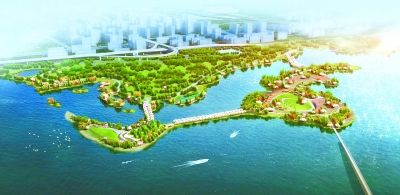 """国庆长假1500名建设者在东湖加班加点 力保87天后绿道二期""""如约见面"""""""