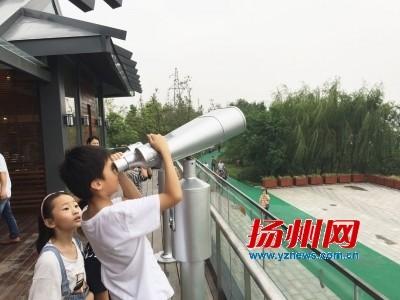 国庆扬州三湾公园人头攒动 成市民休闲新去处