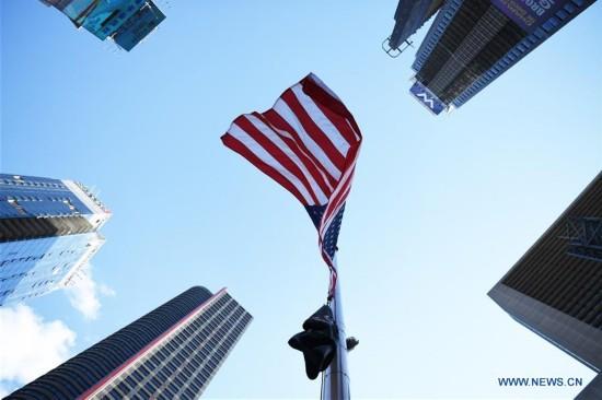 U.S.-NEW YORK-LAS VEGAS-SHOOTING-FLAG-HALF MAST