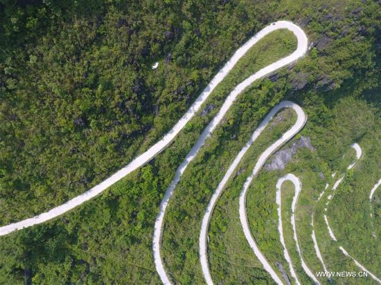 Road construction in south China's Guangxi