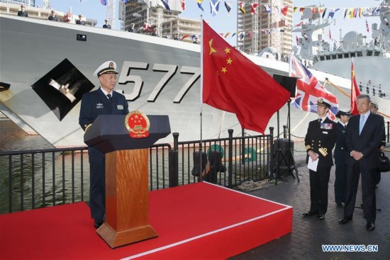 BRITAIN-LONDON-CHINESE ESCORT NAVAL FLEET