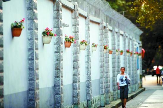 """国庆长假期间,不少游客在武侯区玉林街道的""""小酒馆""""门口拍照留念,甚至图片"""