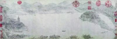 西湖图(局部) 南宋 李嵩 上海博物馆藏