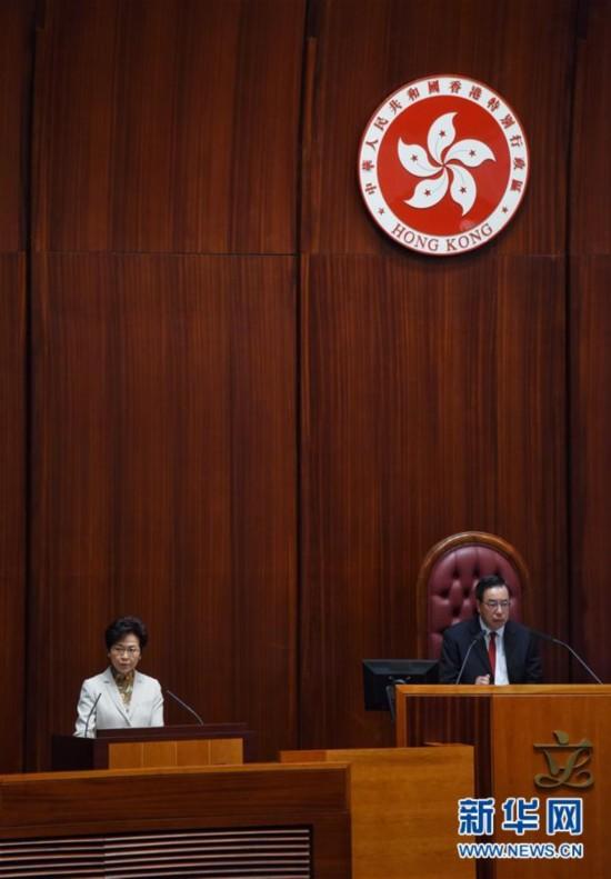 (XHDW)林郑月娥发布任内首份施政报告