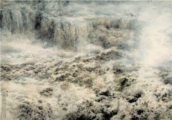 浩浩泱泱 万里长流:中国画《黄河雄姿》赏析