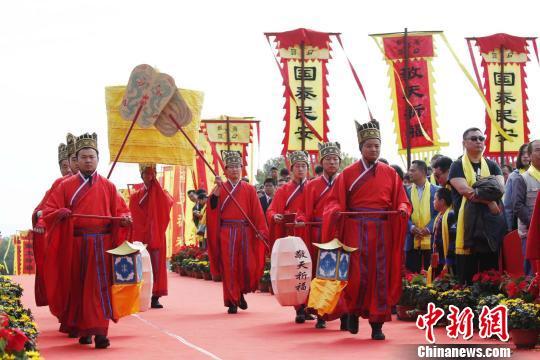 """2017海峡两岸""""中华民族敬天祈福""""仪式在泰山举行"""