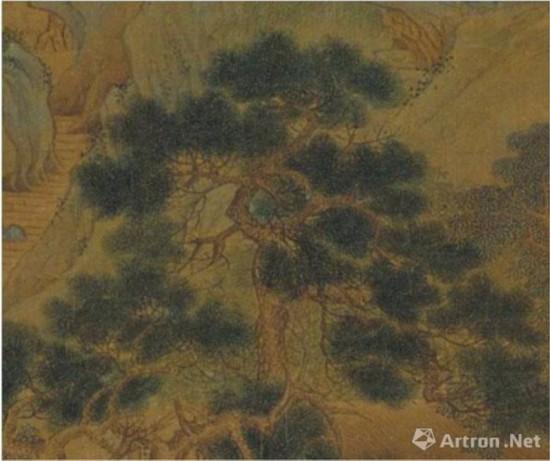 仇英《桃村草堂图》的松树画法