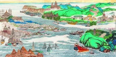 丝路在画笔下绵延 不同的颜料绘出同一个梦想