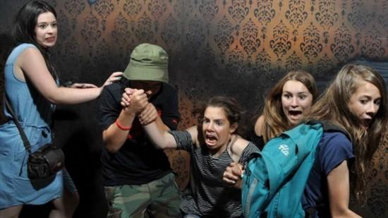 鬼屋加拿大表情带图片图片字表情包别人的带安慰图片字v鬼屋受逗趣游客惊吓图片