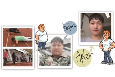周老师带着学生上减脂课.-大学开设减肥课 男生一年掉肉51斤成 校园