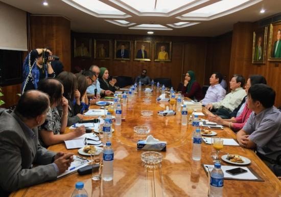 中国作家协会代表团访问埃及