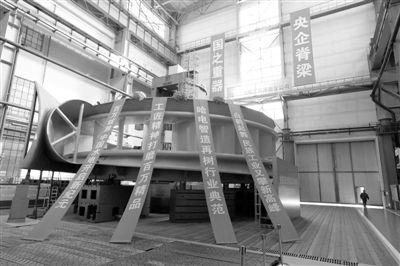 这是当今世界上单机容量最大的白鹤滩100万千瓦水电机组首台座环.