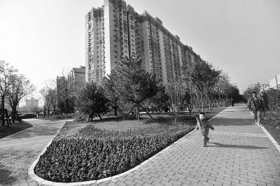 楼下荒草地建起城市休闲公园