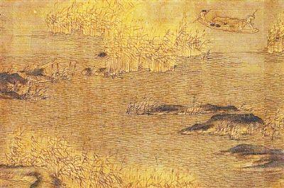 赵幹善画山林泉石,曾为南唐后主李煜朝画院学生