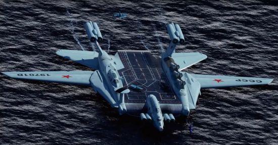 俄想复活里海怪物地效船用于北极