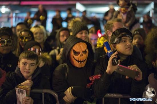 Halloween parade held in Manhattan, New York City