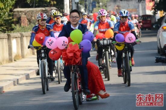 小城长汀的自行车婚礼