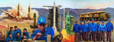 油画作品《大国工匠——徐立平》十分引人注目