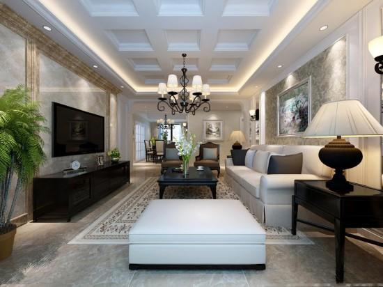 客厅比较长,怎么装修?巧用隔断让客厅不在空空