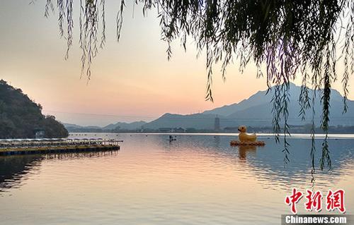北京雁栖湖秋日美景