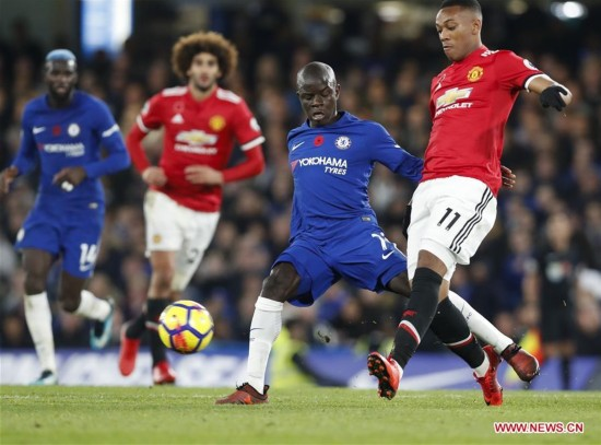 (SP)BRITAIN-LONDON-FOOTBALL-PREMIER LEAGUE-CHELSEA VS MAN UNITED