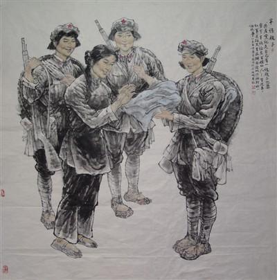 丹青殷殷鱼水情——读唐凤鸣绘画作品