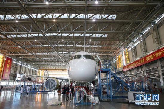 (社会)(1)C919大型客机102架机将进入滑行试验准备阶段