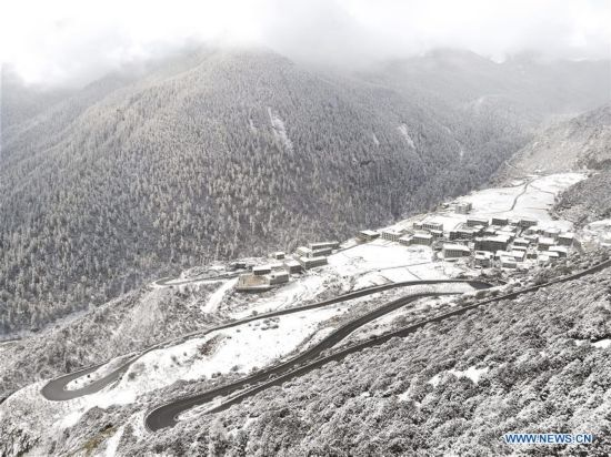 Scenery of snow-covered Yading Nature Reserve in SW China