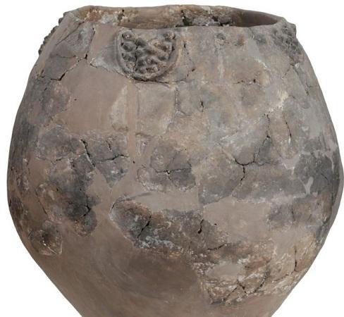 图为研究人员在格鲁吉亚发现的陶罐。(图片来源:法新社)