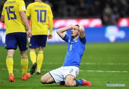Italy fails to enter final stage of 2018 World Cup
