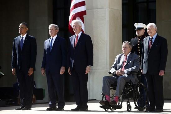 奥巴马,小布什,老布什,克林顿,卡特,要被减薪了!图片