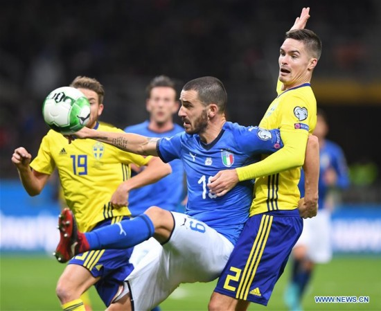 (SP)ITALY-MILAN-FOOTBALL-FIFA WORLD CUP QUALIFIER-ITALY VS SWEDEN