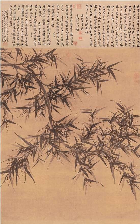 宋 文同 墨竹图轴 绢本墨笔 131.6×105.4cm 台北故宫博物院藏